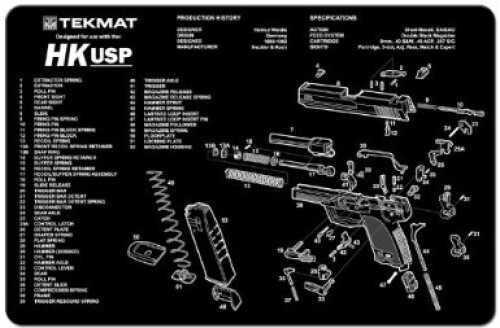 TekMat Heckler & Koch USP Handgun Mat 17-HKUSP