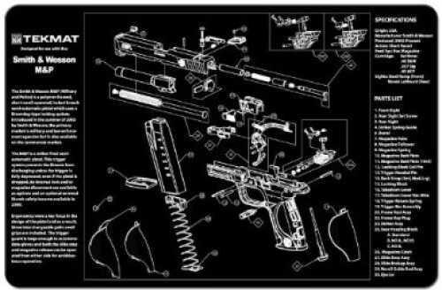 "Beck Tek, LLC S&W M&P Pistol Mat, 11""x17"", Black Finish 17-SW-MP"