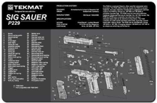 TekMat Sig Sauer P229 Handgun Mat 17-Sig229