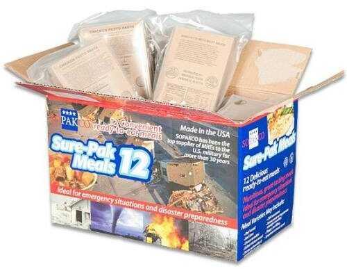 Sopakco Sure Pak Meals w/Heaters 12Pack