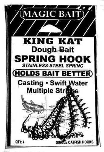 Magic Bait Magi Bait Single Spring Hook Snelled Size 1/0 4/Pack MN# 39-48