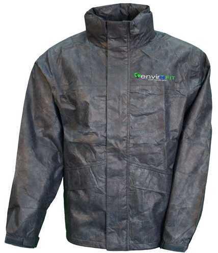 Envirofit Solid Rain Jacket, Black, Medium Md: J003-B-M