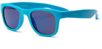 Real Kids Shades Real Kids Neon Blue Wayfarer Flex Fit Blue Mirror Lens 2+