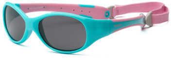 Real Kids Shades Real Kids Aqua/Pink Flex Fit Removable Band Smoke Lens 4+