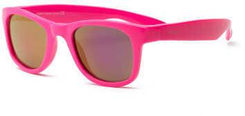 Real Kids Shades Real Kids Neon Pink Wayfarer Flex Fit Pink Mirror Lens 4+