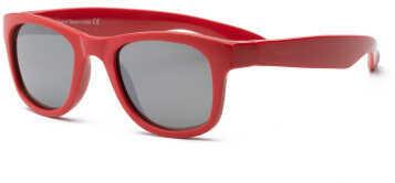 Real Kids Shades Real Kids Red Wayfarer Flex Fit Silver Mirror Lens 4+