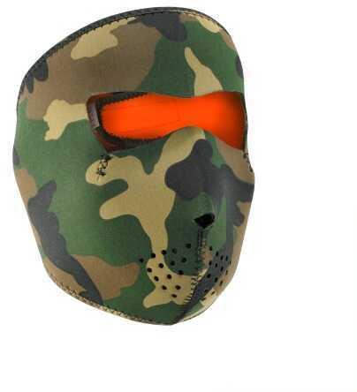 ZANheadgear Zan Headgear Reversible Full Mask Camo To High-Vis Orange