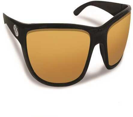 Flying Fisherman Cay Sal Matte Black w/Amber Sunglasses 7372BA