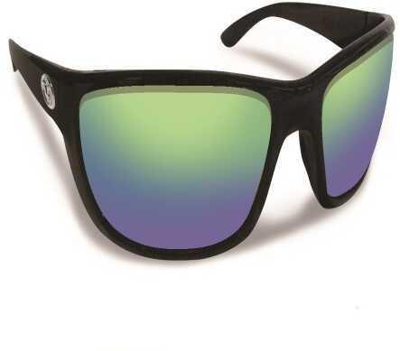 Flying Fisherman Cay Sal Black/Amber Green Mirror Sunglasses 7372BAG