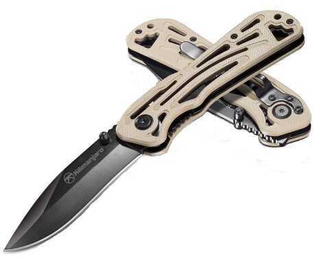 Kilimanjaro Gear Caula 7 Inch Folding Knife, Black Satin Finish Md: 910022