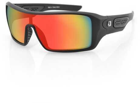 Bobster Eyewear Bobster Paragon Sunglasses-Matte Black/Red Mirror Lenses