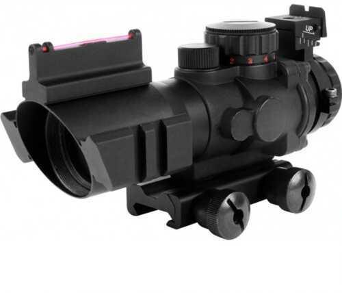Aim Sports Inc. 4x32mm Tri-illumination Scope Fiber Optic Sight 3/4 Circle JTHF0432G