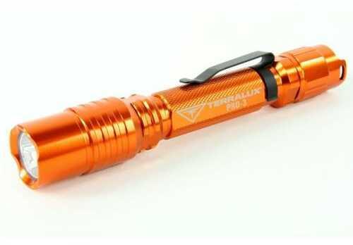 TerraLUX Pro 3 LED 280 Lumen Flashlight, Orange Md: TLF-PRO-3-OR