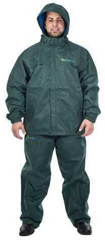 Envirofit Rain Jacket/Pants Set Green X-Large Md: J003/P003-GREEN-XL