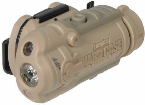 Energizer Hard Case Tactical Tango 1AA 40 Lumen LED Helmet Light With Mounts, Tan Md:TT5US