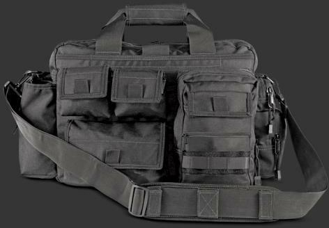 Kilimanjaro Gear Tectus Tactical Briefcase Conceal Carry Bag, Black Md: 910122