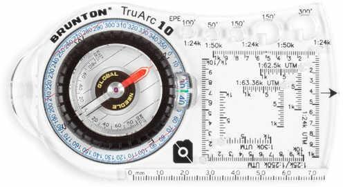 Brunton TruArc10 Baseplate Compass, Rare Earth Global Needle MN# F-TRUARC10