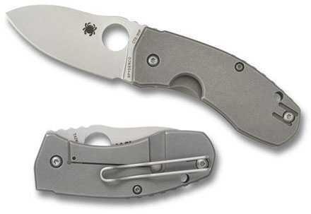 Spyderco Techno Titanium XHP Plainedge Knife C158TIP