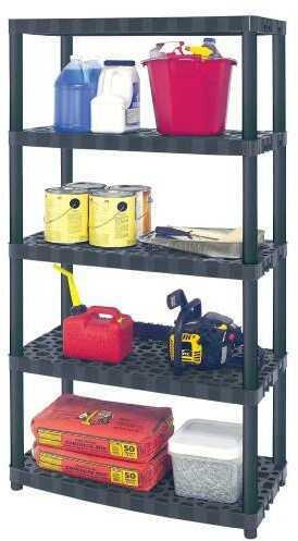 "Plano 5 Shelf Heavy-duty Ventilated Shelving Unit -16"" Shelf"""