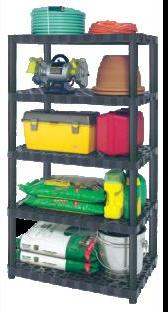 "Plano 5 Shelf Heavy-duty Ventilated Shelving Unit -24"" Shelf"
