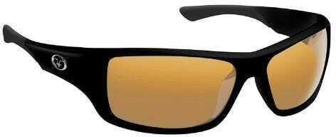 Flying Fisherman Triton Matte Black Frame Amber Lens Sunglass