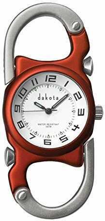 Dakota Watch Dakota Double Clip Watch - Orange with White Dial