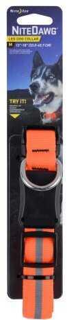 "Nite Ize Nite Dawg LED Dog Collar Orange Medium Fits 13""-18"""