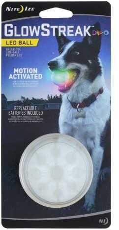 "Nite Ize GlowStreak LED Dog Ball - Diameter 2.5"" Red"