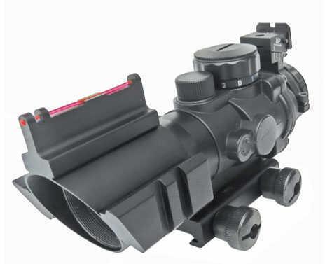Sun Optics 4X32 Prismatic IR With Open Sight/Red/Green/Blue/Mil Ret