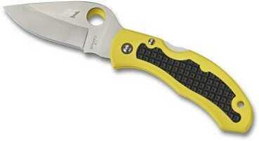 Spyderco 2.96in Snap-It Salt Fldg Knife-PlainEdge-Yellow FRN