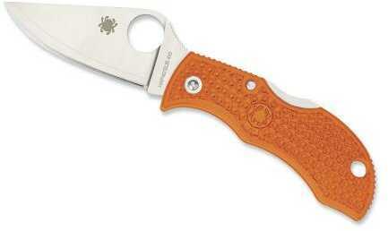 Spyderco Manbug Fldg Knife 1.97in HAP40 Blade-Orange FRN