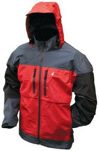 Frogg Toggs Toadz Anura Jacket Red / Slate / Black Large NT65120-11077LG