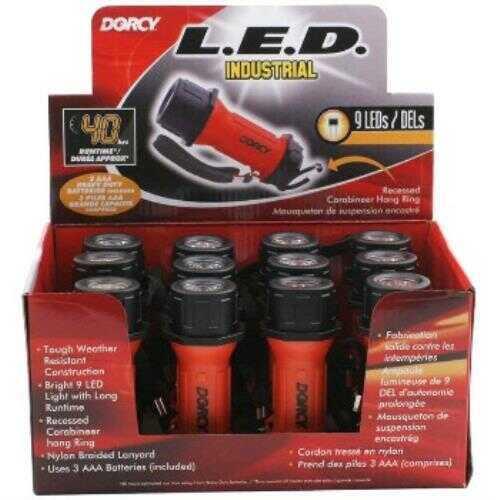 Dorcy 3AAA 9 LED Industrial Flashlights, Display Case Of 12 Md: 41-6243