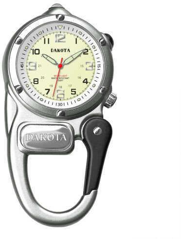 Dakota Watch Company Silver Mini Clip Microlight Watch