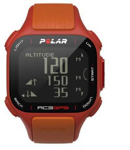 Polar Electro Polar Rc3 GPS Heart Rate Monitor Sports Watch Red/Orange
