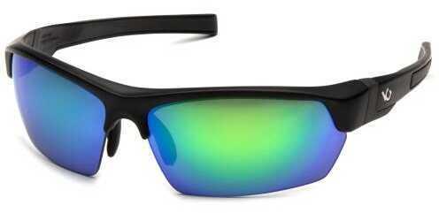 Venture Gear Tensaw Black Frame Green Mirror Polarized Lens