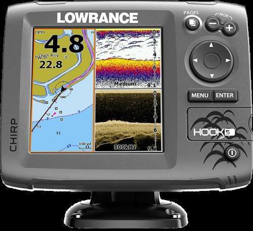 Lowrance Hook-5 Mid/High/Downscan US Can Nav+ Fishfinder
