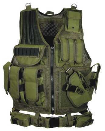Leapers UTG 547 Law Enforcement Tactical Vest, OD Green Md: PVC-V547GT