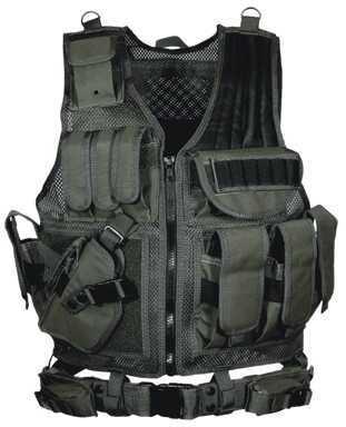 Leapers UTG 547 Law Enforcement Tactical Vest, Left Handed, Black Md: PVC-V547BL