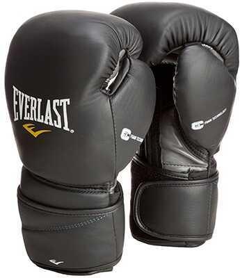 Everlast Black 14Oz ProTex2 Leather Training Gloves