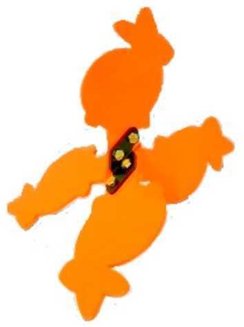 Flippin' Critters Rabbit Hg Orange Walking Hand Gun Target