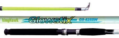 Kinghawk KIng Hawk Gs Glowstix SpInnIng Rod 8'0 In. 2 Piece Medium Gs-825SR/G