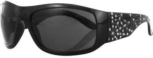 Bobster Eyewear Bobster Vixen Highway Honey Sunglasses Spiderweb w/Rhinstn