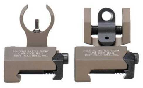 Troy Industries Micro- HK Sight Set Flat Dark Earth, Folding SSIG-IAR-SMFT-00