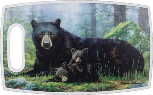 Rivers Edge Products 15 X 9 Inch Rectangular Pp Cut Board-Bears 827