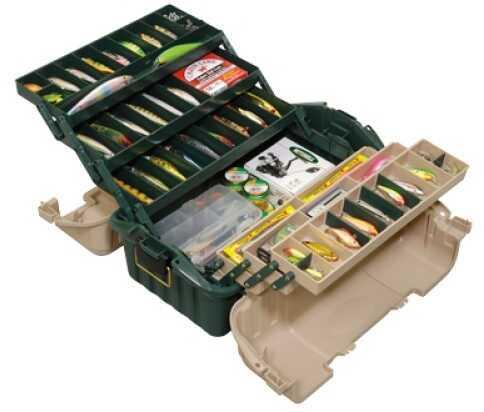 Plano Hip Roof Box 6-Tray Tackle Box Green/Sand 8616-00
