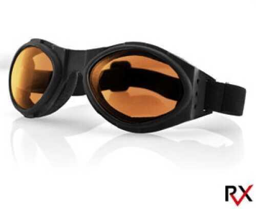 Bobster Eyewear Bobster Bugeye Goggle Black Frame Amber Lens