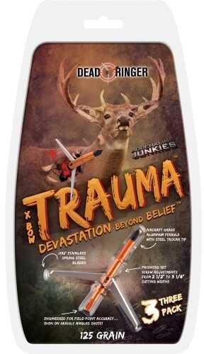 Dead Ringer Trauma Broadheads 125gr 2-Blade 2in. Cut 3pk DRA4774