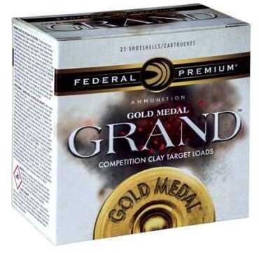 "Federal GMT17175 Premium Gold Medal Grand Paper 12 Gauge 2.75"" 1 1/8 oz 7.5 Shot 25 Box"