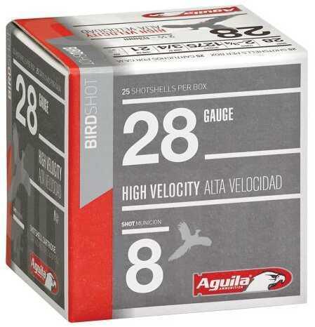 "Aguila 1CHB2878 Hunting High Velocity 28 Gauge 2.75"" 3/4 Oz 8 Shot Box"